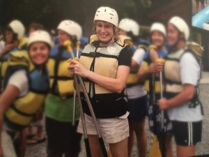 White Water Rafting with 35 teenagers - stretch yourself