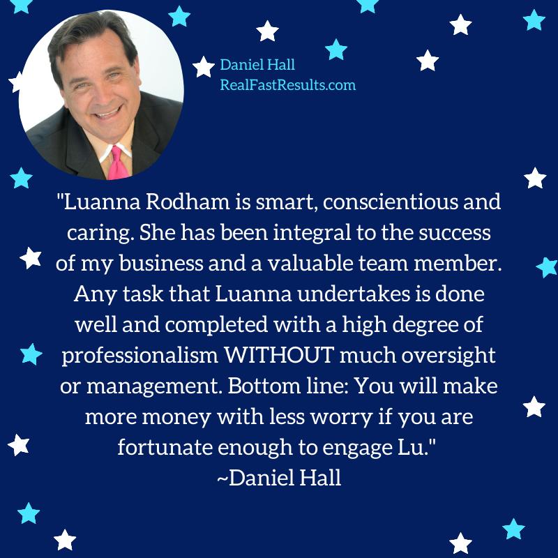 Testimonial for Luanna Rodham by Daniel Hall