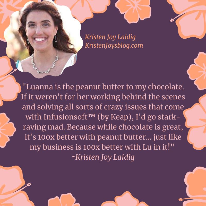 Testimonial for Luanna Rodham by Kristen Joy Laidig